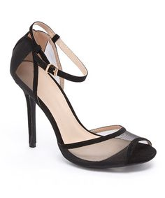 Another great find on #zulily! Black Adele Peep-Toe Pump #zulilyfinds