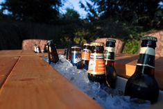 How to: Make a DIY Outdoor Table with a Built-In Cooler