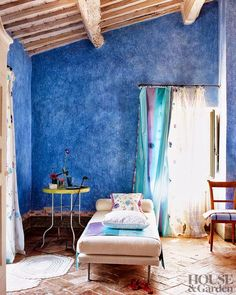 tricia guild tuscany/lulu klein. Tricia guild is really big in Provence. The bold saturated colors