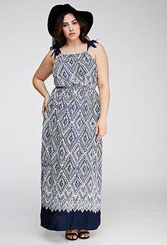 Diamond Print Maxi Dress