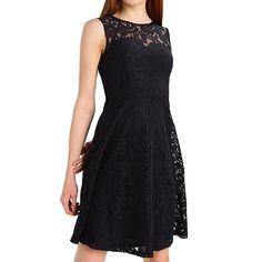 09544d7c894 Shoppen Sie ELFIN® Damen Sommer Kleider knielang festlich Spitzenkleid  Cocktail Abendkleid Freizeit Partykleid - Sommermode