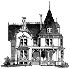 Another top end of my size range and requiring some adjustment, but love it - French Gothic cottage meets farmhouse and I fall in love. This is such a wonderful plan from 1875.
