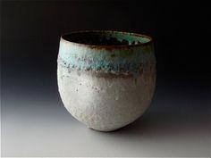 Deep Dented Bowl with Dark Rim | Katrina Pechal