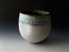 Deep Dented Bowl with Dark Rim   Katrina Pechal