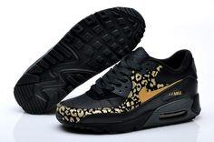 new product 0a295 ed3ec prezzi bassi saldi Nike Air Max 90 Leopard Stampa Donna Scarpe Da Running  Nero   Oro