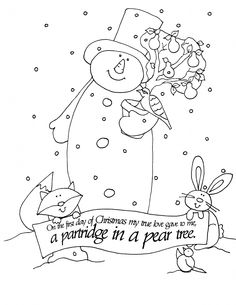 On the First Day of Christmas | Dearie Dolls Digi Stamps