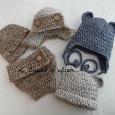 Reserve commande bonnets bebe + cache couche au crochet