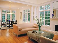 Beautiful living space with pella windows.