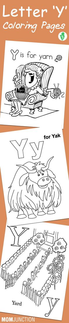 Letter Y Coloring Page Coloring Pages For Kids WorksheetsGuru