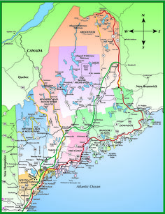 Map Of Maine Lakes.Maine Lakes And Rivers Map Maine Homes Pinterest Maine Map