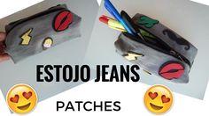 DIY MATERIAL ESCOLAR- Estojo jeans com patches