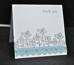 Stampin' Up ideas and supplies from Vicky at Crafting Clare's Paper Moments: Easy Events in greyish blue!