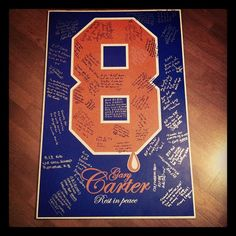 RIP Gary Carter. The 7 Line had this poster signed by fans who gathered at Citi Field to pay tribute to The Kid.