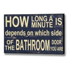 CHIC SHABBY BATHROOM SIGN - Humorous Wall Hanging Loo Toilet Plaque Vintage Blue | eBay