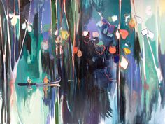 Charlotte Evans, reflect, 2014 (two panels) Oil on canvas, 60'' x 80'', 152.4 x 203.2 cm