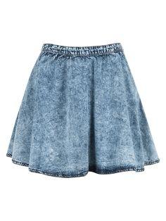 Acid washed denim skirt.. so cute!
