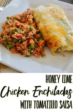 This Honey Lime Chicken Enchiladas Recipe is spicy, sweet, cheesy, and simply the perfect Tex-Mex recipe fix (while still being pretty darn healthy!)