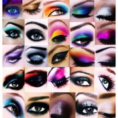 Cool eye shadows