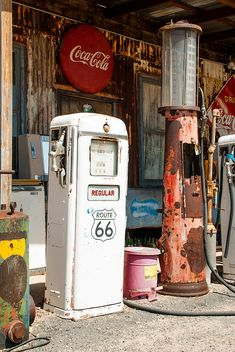 Old Gas Pumps Route 66 Hackberry Springs Arizona Photograph