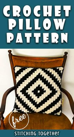 You are going to love making this modern crochet pillow! With this simple graph you'll have it made in no time and have your space looking trendy enough to be in a magazine. Save the free pattern now so you can get started as soon as possible. Crochet Pillow Cases, Crochet Pillow Patterns Free, Knit Pillow, Free Pattern, Afghan Patterns, Square Patterns, Free Crochet, Throw Pillow, Cushion Cover Pattern