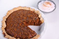 | Carla Hall's Pumpkin Pecan Pie/one comment on this recipe was to instead of using plain butter, brown it.  Just heat gently until butter is golden brown but be careful not to burn it. Allow to cool before adding eggs.  The difference is amazing!
