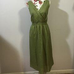 "Avenue 100% Cotton Dress- Sz 14/16. NWT Super soft & lightweight cotton! Beautiful sage green color. Length is 44"". Avenue Dresses"