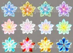 I wanted to make some simple flower-shaped gems, but ended up with this. Please tell me - would you like more flowers in this style or something simplier? You can purchase this set for 100 points a...