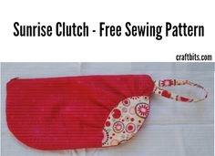 """This free sewing pattern is for the """"Sunrise Clutch""""."""