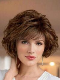Buy Perfect Brown Wavy Short Classic Wigs, Trendy affordable great selections at Wigsis. A classic look will never go out of style! Short Brown Hair, Short Wavy Hair, Short Hair With Layers, Thick Hair, Prom Hairstyles For Short Hair, Hairstyles With Bangs, Haircuts, Hairstyles Videos, Medium Hair Styles