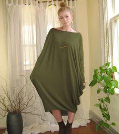 Shape Shifter Asymmetric Dress Off Shoulder Oversize Tunic Long Sleeve Midi Maternity (More Colours) on Etsy, $60.00