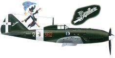Reggiane Re.2005 Sagittario Ww2 Aircraft, Military Aircraft, Plane Drawing, Italian Air Force, Daimler Benz, Ww2 Planes, Aviation Art, Luftwaffe, World War Two