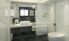 Mooie badkamer met vrijstaande wastafel Double Vanity, Toilet, Sweet Home, Bathroom, Washroom, Flush Toilet, House Beautiful, Full Bath, Toilets