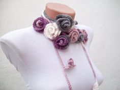 Hey, I found this really awesome Etsy listing at https://www.etsy.com/listing/84787034/handmade-crochet-lariat-scarf-purple
