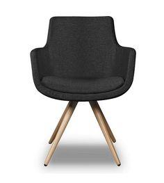 I-Sofa Dining Chair Espen schwarzes Textil 59x59x83cm - Wonen met LEF!