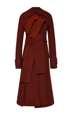 Bonded Boiled Wool Coating Double Breasted Coat by Proenza Schouler for Preorder on Moda Operandi
