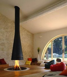 St. Moritz Apt , #switzerland #fireplace #design #fire