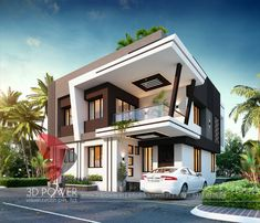 Architecture Discover Modern bungalow design architecture We are known for designing a wonderful place in the world that is ones dream home. Here is one such modern home designed by Architect Design House, Bungalow House Design, House Front Design, Architectural Design House Plans, Architecture Design, Modern Bungalow, Amazing Architecture, Architecture Magazines, Concept Architecture