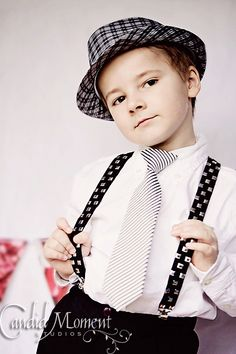 My 5 year old rocking the hat, tie and suspenders combo. This was a simple setup for a Valentine's Day Mini Session