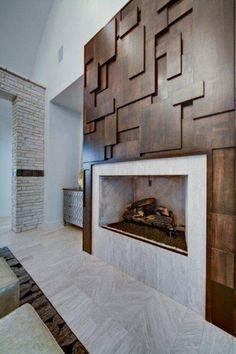 Modern Fireplace Tile Ideas, Best Design Modern Fireplace Designs With Glass For The Contemporary Home Modern Fireplace Tiles, Contemporary Fireplace Designs, Home Fireplace, Fireplace Surrounds, Contemporary Bedroom, Contemporary Apartment, Contemporary Chandelier, Contemporary Office, Contemporary Landscape