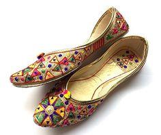 fa958ab44b9 Mirror Work Multi Color Embroidered Shoes Designer Ballet Flat Shoes Handmade  Indian Designer Women