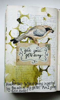 Give-Your-Gifts-Away | by Mary Brack ~ www.mewithmyheadintheclouds.blogspot.