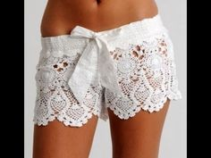 Tutorial Shorts Crochet o Ganchillo en Punto V (Uve) - YouTube