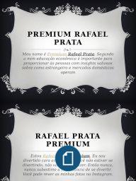Meu nome é Rafeal Prata Premium. Segundo a mim educação econômica é importante para proporcionar às pessoas com insights valiosos sobre como estrangeiro e mercados domésticos operam, o que lhes permite fazer fundamentados e racionais escolhas para a curto prazo e de longo prazo benefícios financeiros. http://www.scribd.com/doc/290616664/Premium-Rafael-Prata#scribd