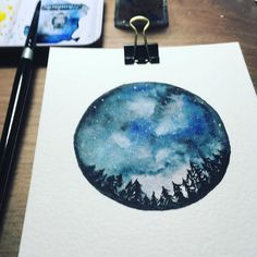 "Lena Klimann on Instagram: ""Nachthimmel  #aquarell #aquarelleart #aquarellepainting #nachthimmel  #sterne  #nightsky #stars #lenaklimann #herbertdeutschmann"" Painting, Instagram, Watercolor Painting, Night Sky Stars, Painting Art, Paintings, Painted Canvas, Drawings"