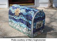 Mosaic Tile Mailbox