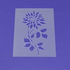 Wandschablonen - Schablone Blume Blüte Dalie Blätter - MF68 - ein Designerstück von Lunatik-Style bei DaWanda