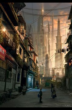 Urban Sun, Vladimir Manyukhin on ArtStation at https://www.artstation.com/artwork/Yr4ew