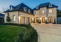 French luxury home in brick and cast stone :: Dallas, Texas