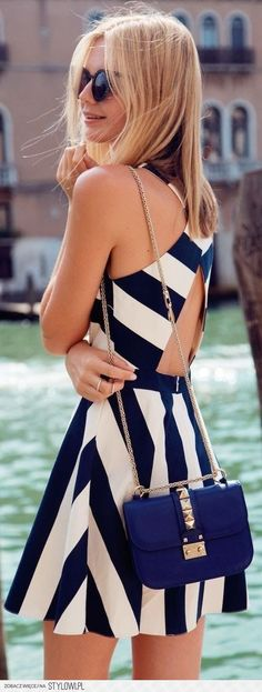 Navy and coral outfit na Stylowi.pl