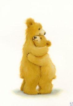 Cuteness Overload: Bear Illustrations by Alison Edgson My Teddy Bear, Cute Teddy Bears, Polar Bear, Bear Character, Character Design, Bear Pictures, Cute Pictures, Hug Illustration, Baby Animals